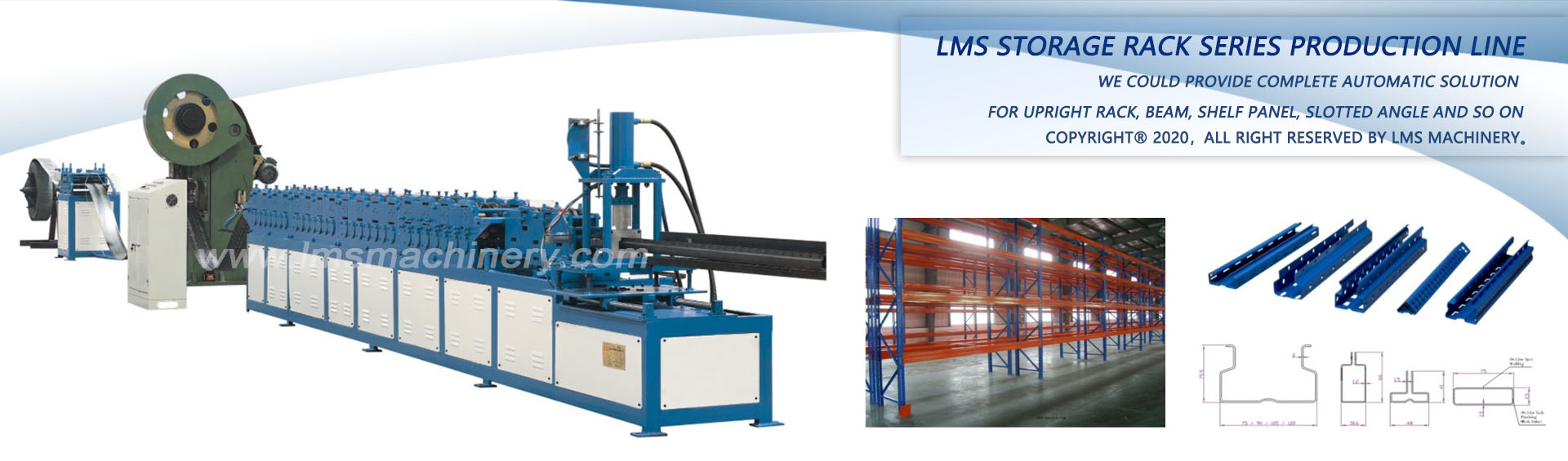 Roll Forming Machine Cold Forming Machine Storage Rack Roll Forming Machine Lms