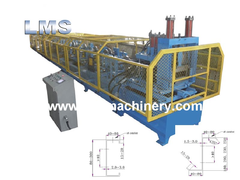 LMS CZ Fast-changing Purlin Roll Rorming Machine